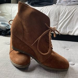 brown booties size 10